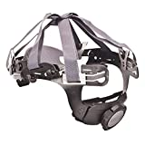 MSA Plastic/Nylon Fas-Trac III Replacement 6 Point Ratchet Suspension With Flush Rear Lug Attachment And 3 Level Nape Strap For Use With V-Gard 500 And SmoothDome Helmets