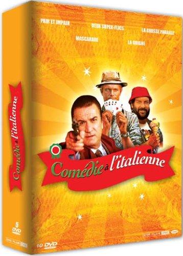 Coffret comédie a l'italienne : pair et impair ; 2 super flics ; la grosse pagaille ; mascarade ;...