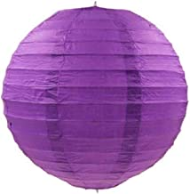 Kala Decorators 10 inch (25 cm* 25cm) Purple Hanging Paper Lantern(2 Pc) Paper Ball Lamp Shade for Diwali,Wedding, Party,Decoration