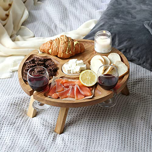 Tavolo da picnic pieghevole in legno, regalo per la festa della mamma, un piccolo tavolo che fa una grande differenza (1 pezzo)