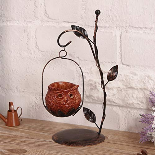 Koehope 1 set unieke uil kandelaar ijzer kandelaar hars lantaarn kandelaar cafe Home decoratieve ornamenten