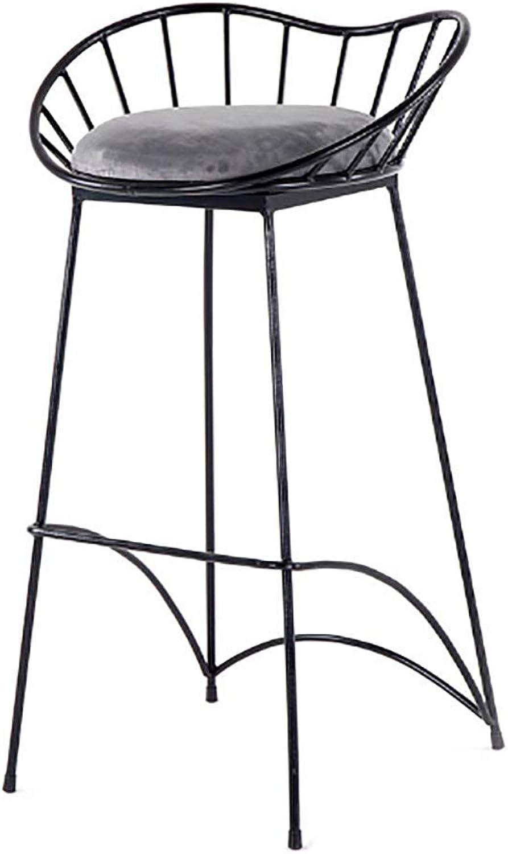 Loft Iron Bar Stool American Simple High Stool Bar Chair gold Black Bar Stool Modern (color   Black)