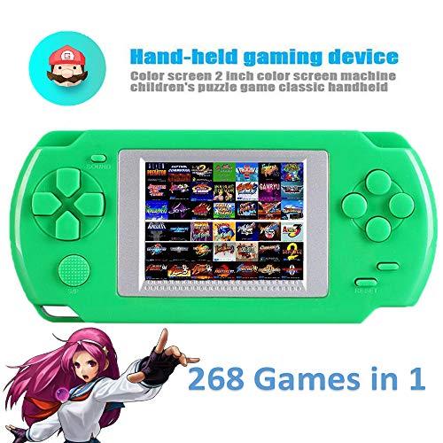 DokFin Handheld Spielkonsole, Retro Tragbare Spiele Konsolen Eingebaute 268 Spiele mit 2-Zoll-Bildschirm Geburtstagsgeschenk für Kinder Erwachsene