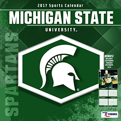 "Turner Licensing Sport 2017 Michigan State Spartans Team Wall Calendar, 12""X12"" (17998011831)"