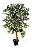 GreenBrokers Künstlicher Ficus-Baum, 1,2 m, Topfpflanze