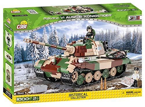 COBI 2540 PzKpfw VI Ausf. B Königstiger Building Blocks, verde, marrone, beige