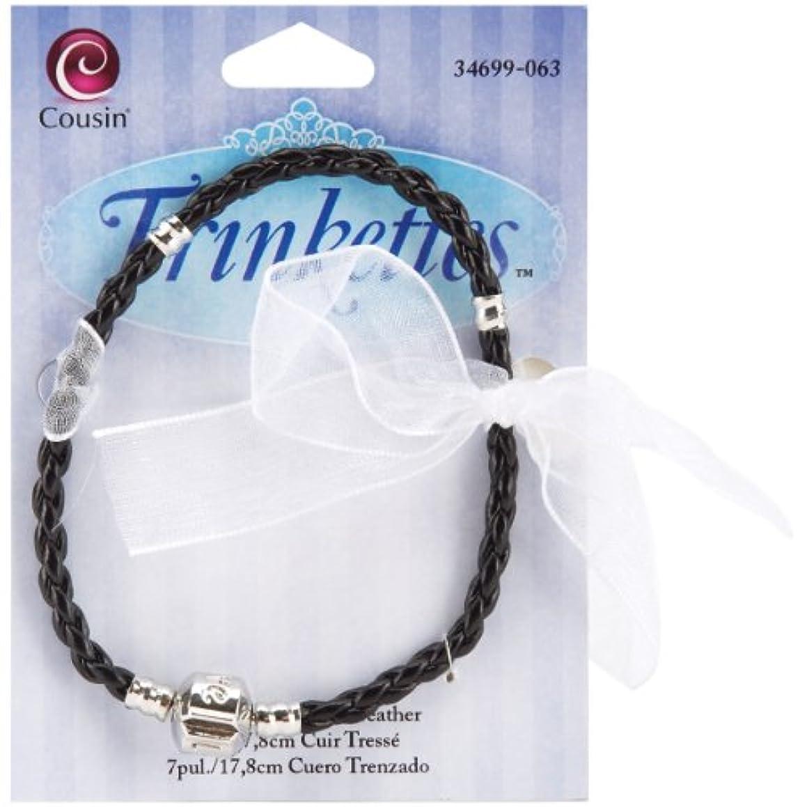 Cousin Trinkettes 7-1/2-Inch/20cm Braided Leather Bracelet