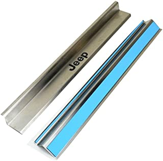 Genuine Jeep Accessories 82210108AC Brushed Stainless Steel Door Sill Guard