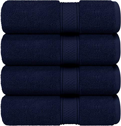 Utopia Towels - Bath Towels Set, Navy Blue - Luxurious 700 GSM 100% Ring Spun Cotton - Quick Dry, Highly Absorbent, Soft Feel Towels, Perfect for Daily Use (4-Pack)