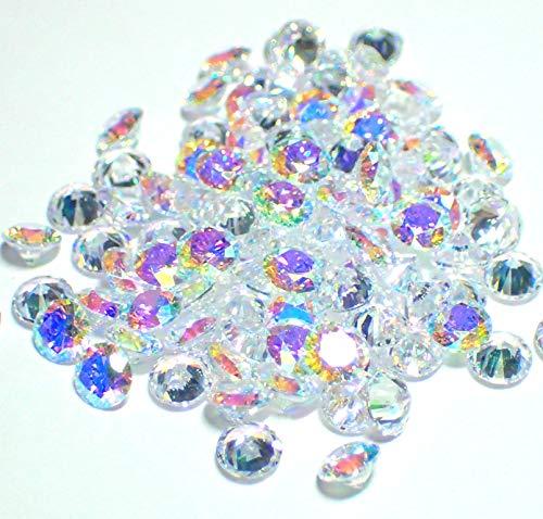 4mm 100個セット オーロラAB AAAAAキュービックジルコニア ルース(裸石) ラウンドブリリアントカット 4ミリ 人工ダイヤモンド レジンクラフト ハーバリウム ボールペン