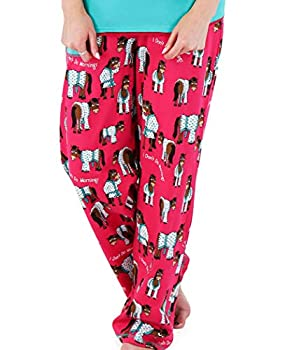 Lazy One Pajamas for Women Cute Pajama Pants and Top Separates Don t Do Mornings Horse Animal