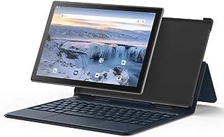 タブレットPC、タブレットノートパソコン 10.1インチ、4GBRAM/ ROM64GB、8コアCPU、キーボード付き、1920 x1200 IPSスクリーン、Bluetooth 5.0、4G Wi-Fi、Type-C、GPS、FM、黒