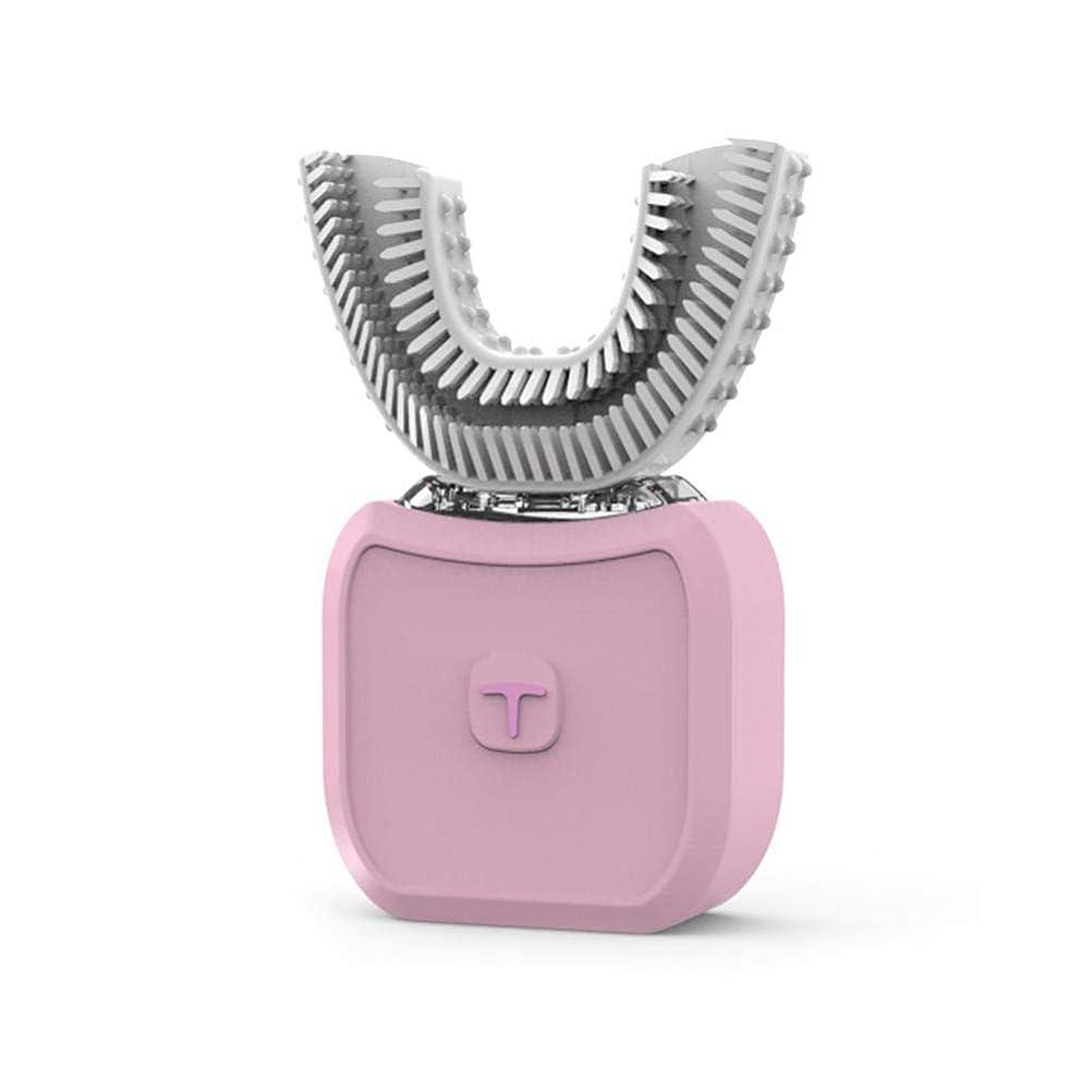 シティソビエト忠実なU型電動歯ブラシ 超音波自動歯ブラシ 360°包囲清掃歯 怠け者歯ブラシ USB充電 IPX7防水 電動歯ブラシ