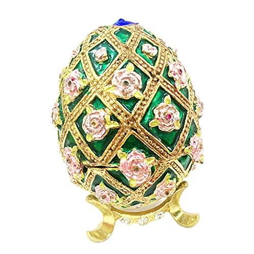 IPOTCH Verde Pascua Esmaltada Caja de Joyería Organizador Compromiso Favores de La Boda