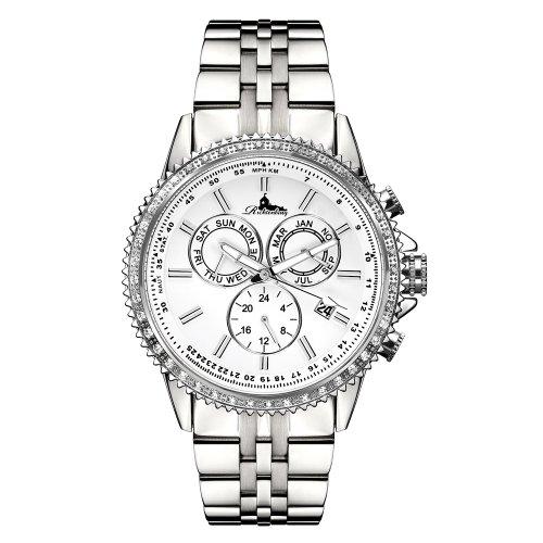 Richtenburg R11000 Cassiopeia Stahl Weiss mit Edelstahlarmband Damen Automatik Armbanduhr