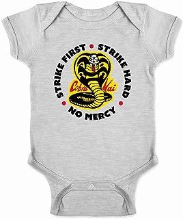 Cobra Kai Motto Circle No Mercy Karate Kid Infant Baby Boy Girl Bodysuit