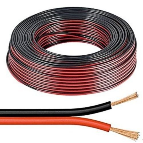 electrosmart 50m Red Black 2 x 0.50mm Speaker Cable - Ideal for Car Audio & Home HiFi