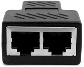 ROSEBEAR RJ45 CAT5 6 Ethernet kabel LAN Poort 1 naar 2 Ethernet Splitter Coupler Dubbele Splitter Connector Adapter Compatibel met ADSL, Hubs, Switch, TV, Set-top Box, Router, Draadloos Apparaat, Computer