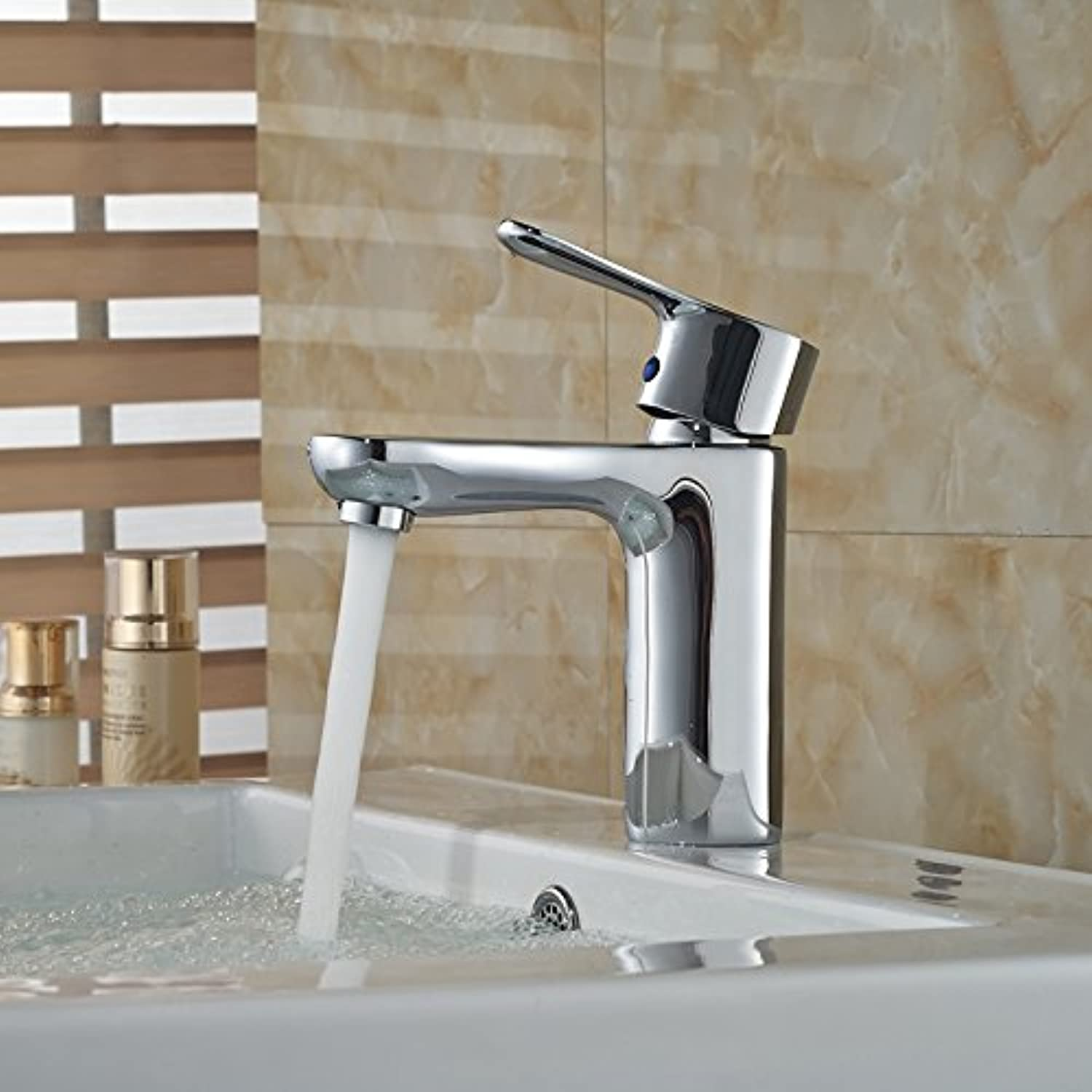 U-Enjoy Wholesale and Retail Top Quality Brass Sink Faucet Single Lever Hot and Cold Water Mixer Taps (Free Shipping)