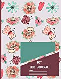 Dot Grid Journal: Watercolor Cat Pattern Dot Grid paper Notebook / Journal to write in 120 pages...