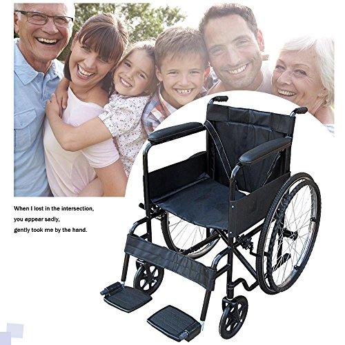Songtree - Silla de Ruedas Autopropulsable Plegable Portátil con Reposapiés y Reposabrazos tiene Freno para Paciente Personas Mayores Discapacitados