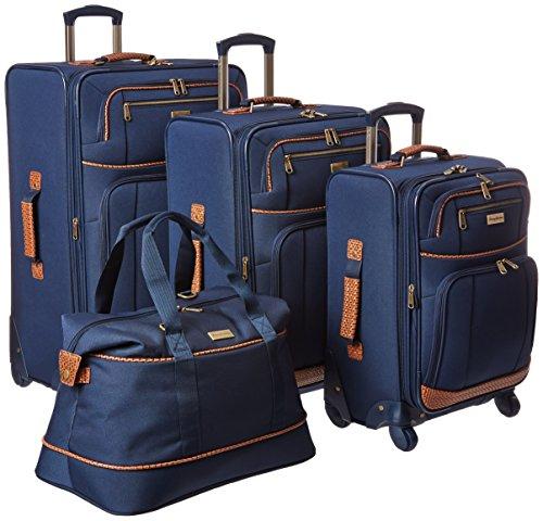 Tommy Bahama 4 Piece Lightweight Expandable Luggage Suitcase Set, Navy
