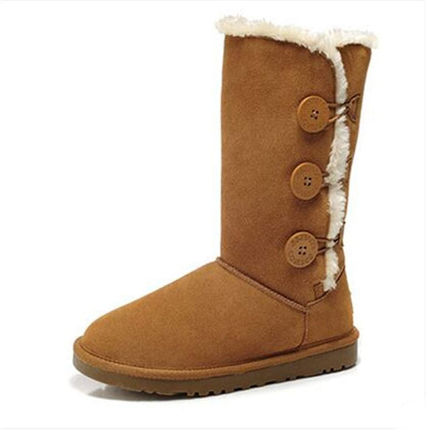 Kyle Walsh Pa Women's Winter Snow Velvet Slip on Solid Casual Boots