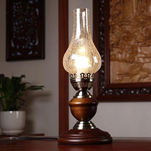 NYDZ in Amerikaanse stijl retro erosine tafellamp vintage olie bureaulamp slaapkamer bedlamp, antieke tafellamp ouderwetse ijzeren leeslamp voor cafe bar winkelhuis restaurant