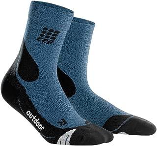CEP Men's Outdoor Compression Crew Cut Socks Outdoor Merino Mid-Cut Socks