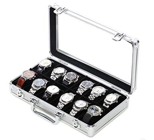 Vitrina Guarda 12 Relojes en Aluminio Modello WCALU12