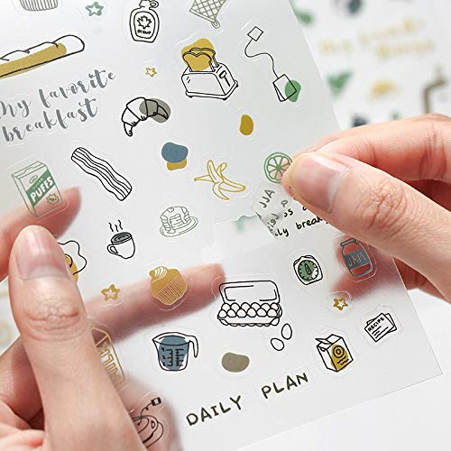 2 Sheets/pack Travel Notes Washi Paper Stationery Stickers Kawaii Sticker Set Scrapbook Planner Diary Album Diy Label For Kids