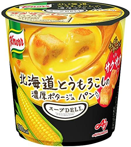 味の素 KK クノール スープ DELI 北海道とうもろこしの濃厚ポタージュ パン入リ 38.2g