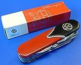 Couteau suisse Combi Volkswagen - Noir/rouge - 10fonctions - Qualité supérieure