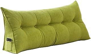 Tête de lit Coussins Incliné Lecture Oreillers Lit Canapé Chambre à Coucher Nordique/Couverture Amovible en Tissu floqué