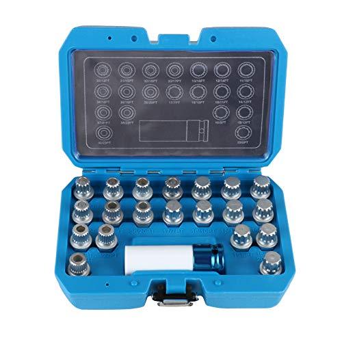 BELEY 21-teiliges Radschloss-Entfernungs-Set für BMW und Mini-Serie, Rad-Diebstahlsicherung, Radmuttern, Schraubenentferner, Steckschlüssel-Set mit 12,7 mm Stecknuss-Adapter