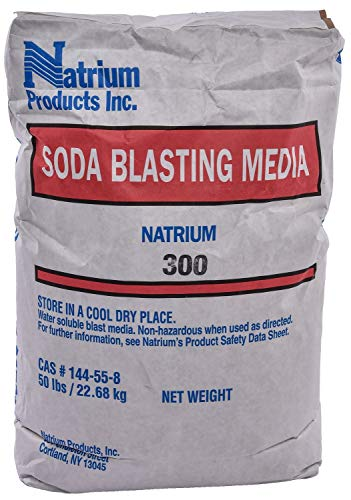 JEGS Soda Blast Media | 50 LBS Bag | Cleans, Degreases, Removes Paint | Safe and Easy Cleanup