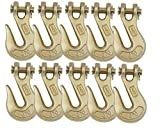 Mytee Products (10 Pack) 5/16 Grade 70 Clevis Grab Hooks Wrecker Tow Chain Flatbed Truck Trailer