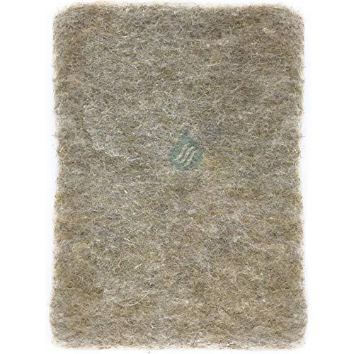 Solution Ahead - 1 Filtre Universel en Fibres Naturelles de Lin - Absorbe Les Graisses | 47X114cm Adaptable par Simple Découpe | 100% Compostable