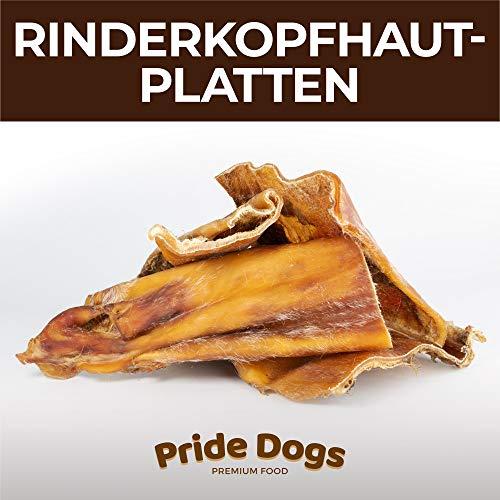 PrideDogs Rinderkopfhautplatten 1000g der Premium Kausnack für Ihren Hund   100% Rind aus Deutscher Herstellung   im geruchsneutralen Beutel   Kauartikel.
