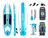 iROCKER Cruiser Inflatable Stand Up Paddle Board 10'6' Long 33' Wide 6' Thick SUP Package | Aqua - 2019