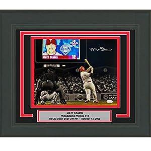 Framed Autographed/Signed Matt Stairs Moon Shot Philadelphia Phillies 11x14 Baseball Photo JSA COA