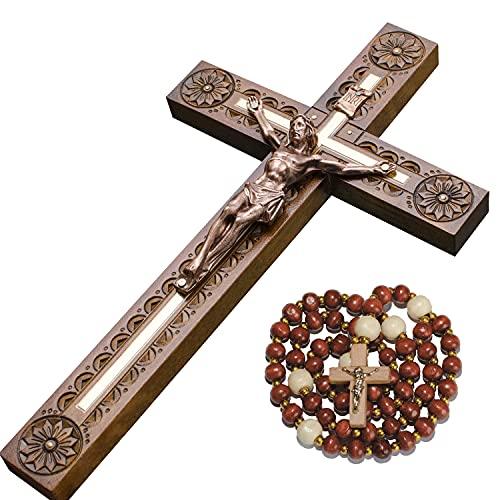 Crucifixo Asterom Crucifixo para decoração de casa, Carved