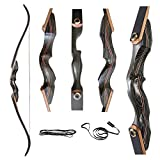 Deerseeker Outdoor 60' Archery Takedown Recurve Bow 60lbs - Right and Left Handed Riser Bow for Hunting Target Shooting 15-60lbs
