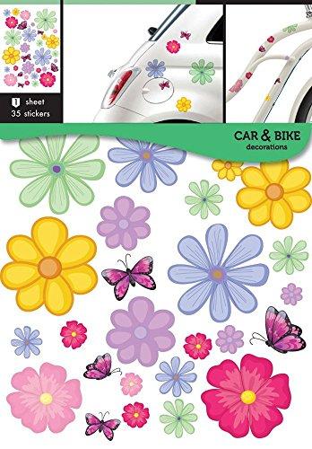 Auto-Fahrrad aufkleber Blumen