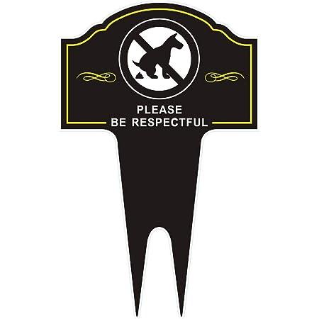 Cartel De Perro Con Estaca De Gbateri Letrero Con Texto En Inglés Please Be Respectful Para Evitar Que Los Perros Se Salten O Se Meen En El Césped Resistente A La