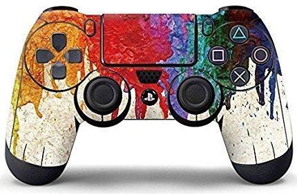 Elton PS4 Controller Designer 3M Skin for Sony PlayStation 4 , PS4 Slim , Ps4 Pro DualShock Remote Wireless Controller (set of two Controllers Skin) - Colorful Oil Painting