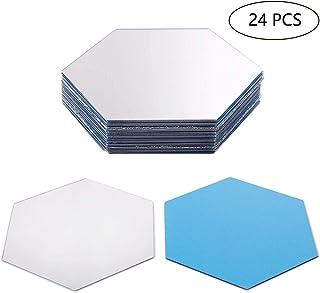 18 fogli di specchio flessibili autoadesivi camera da letto decorazione da parete per casa soggiorno rimovibili in acrilico in plastica a specchio