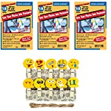 Freez A Frame Photo Postcards Self Adhesive 4' x 6' Pack of 45 + Xit Photo Peg Pins With Emoji Faces for Scrapbooking