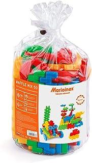Marioinex 900376 Waffle Blocks Mix, 50 Pieces, Multi-Colour