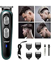 Mainstayae VGR Barber Electric Trimmer USB Rechargeable Hair Clipper Shaver Self-Cut Haircutting Kit Grooming Low Noise Professional Cutting Machine